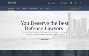 miniatura szablonu lawyer